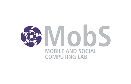 Our technological partner's logo (mobs mobile and social computing lab), specializing in artificial intelligence solutions and behavioral analysis, develops innovative mathematical models.