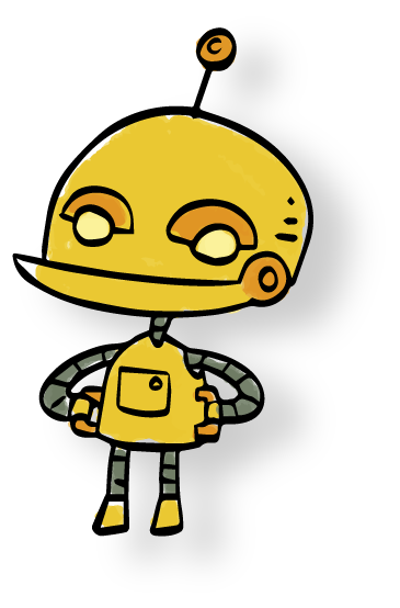 Nice avatar of a chatbot tutor created with crafter.ai
