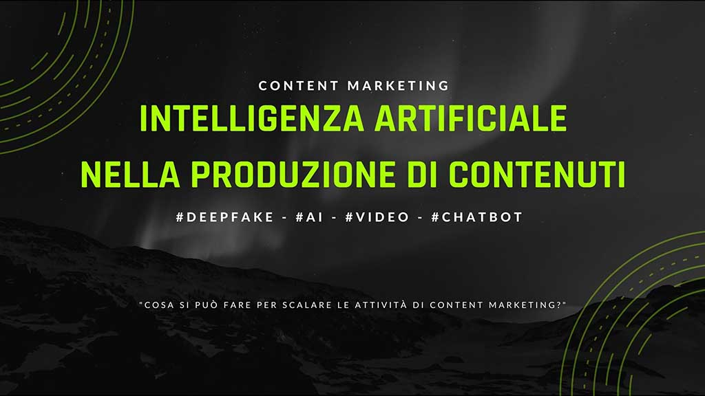 Intelligenza artificiale nel content marketing