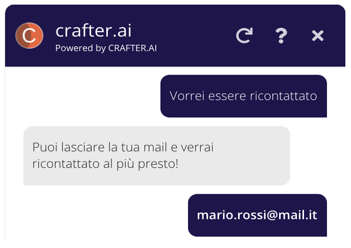 Chatbot example for lead generation in conversational marketing