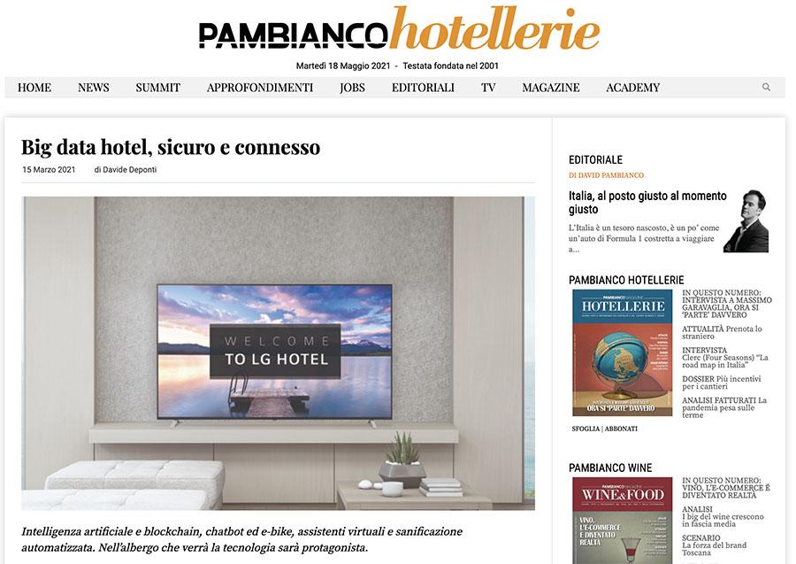 articolo crafter ai panbianco hotellerie press kit
