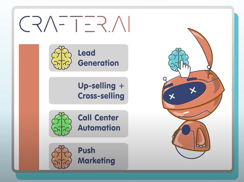 how to create a PUSH MARKETING, UP-SELLING, AND CROSS-SELLING chatbot with crafter ai