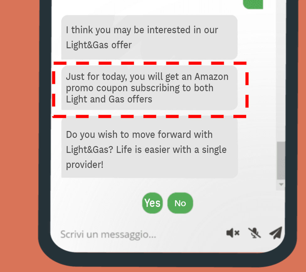 upselling cross selling marketing chatbot case study